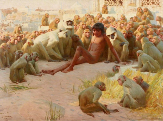john_charles_dollman_-_mowgli_made_leader_of_the_bandar_log